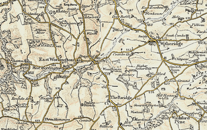 Old map of West Yeo in 1899-1900