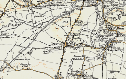 Old map of Drayton in 1897-1899
