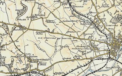 Old map of Wildmoor, The in 1899-1902