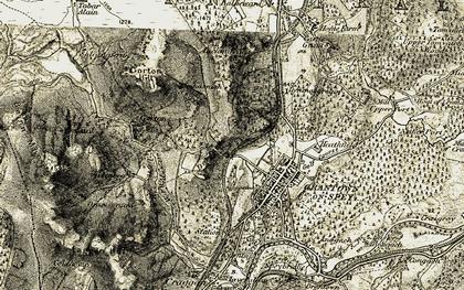 Old map of Dreggie in 1908-1911