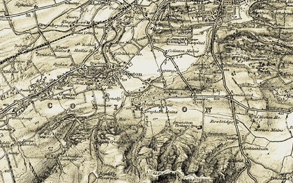 Old map of Allermuir Hill in 1903-1904