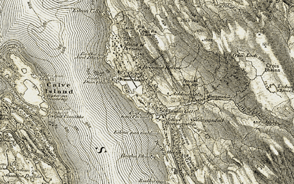 Old map of Achnacriche in 1906-1908
