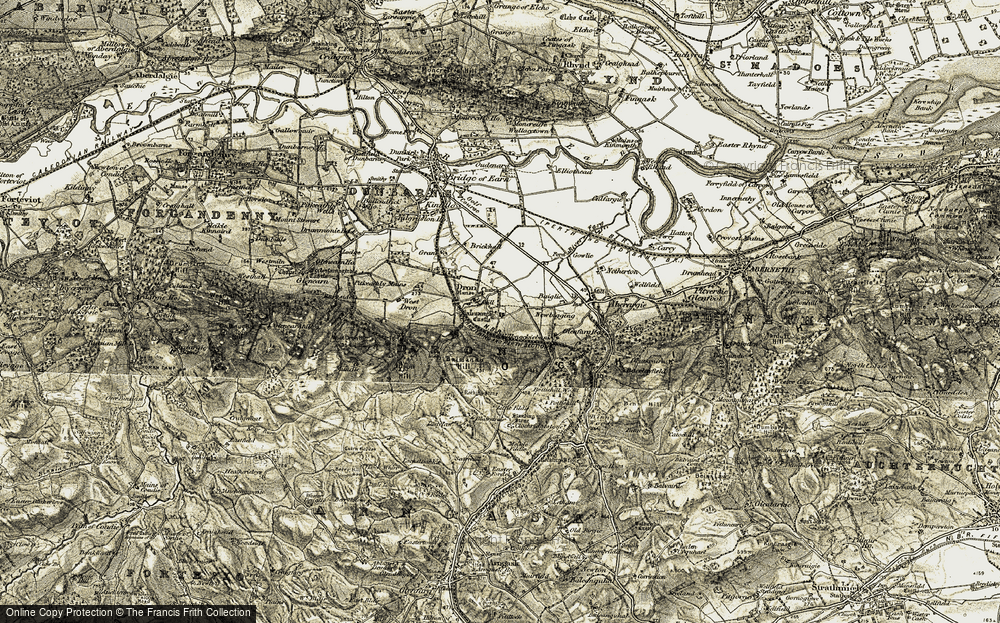 Old Map of Dron, 1906-1908 in 1906-1908