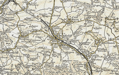 Old map of Dronfield in 1902-1903