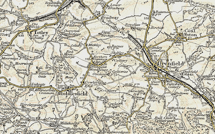 Old map of Dronfield Woodhouse in 1902-1903