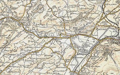 Old map of Druid in 1902-1903