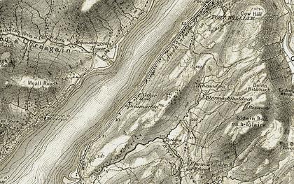 Old map of Druimarbin in 1906-1908
