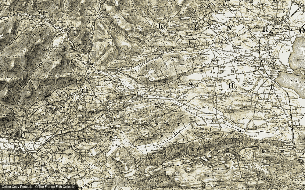 Old Map of Historic Map covering Bankhead in 1904-1908
