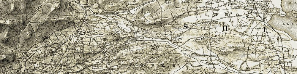 Old map of White Hill in 1904-1908