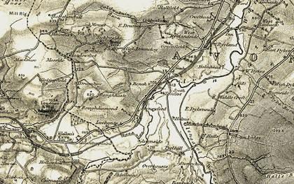 Old map of Bankend in 1904-1905
