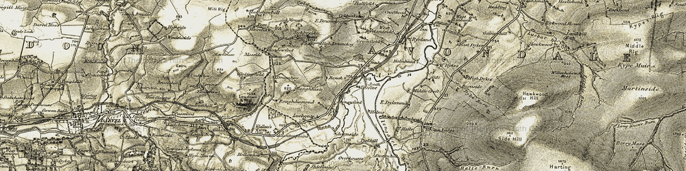 Old map of Winkinfield in 1904-1905