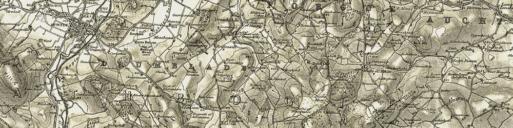 Old map of Woodbank in 1908-1910
