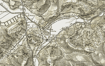 Old map of Tinnis Castle in 1903-1904