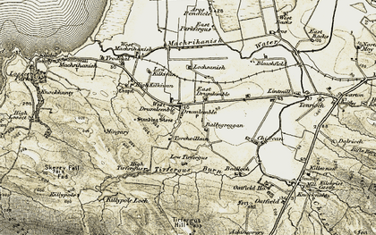 Old map of Tirfergus Hill in 1905