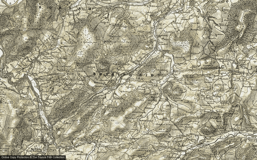 Old Map of Historic Map covering Woodend in 1908-1910