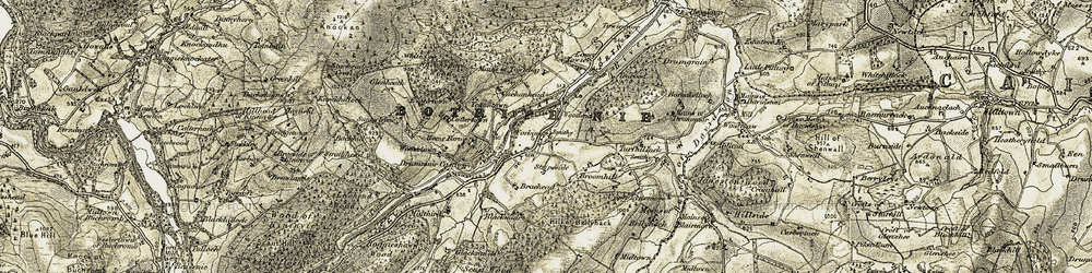 Old map of Westerton in 1908-1910