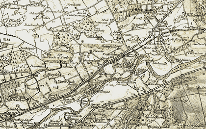 Old map of Westhill Cott in 1908-1909
