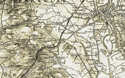 Old map of Westhill in 1901-1905