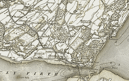 Old map of Drumsmittal in 1911-1912