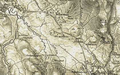 Old map of Drumuie in 1909