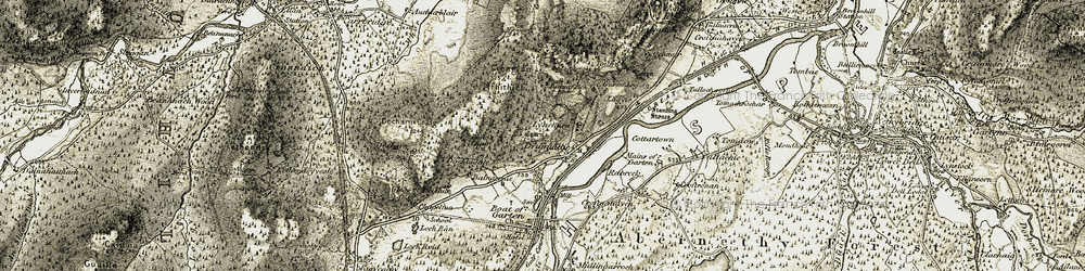 Old map of Tomdhu in 1908-1911