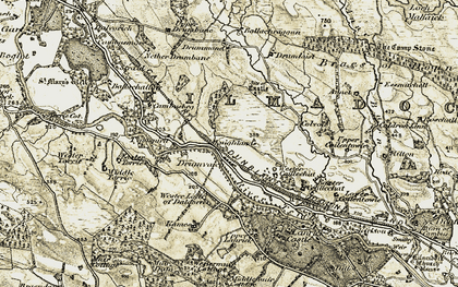Old map of Wester Coillechat in 1904-1907