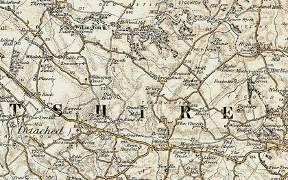 Old map of Yew Tree in 1902