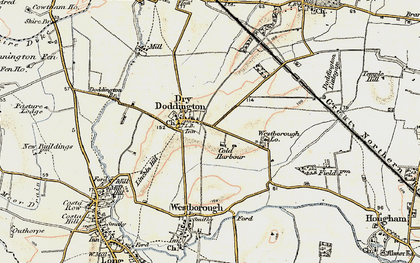 Old map of Westborough Gate Lodge in 1902-1903