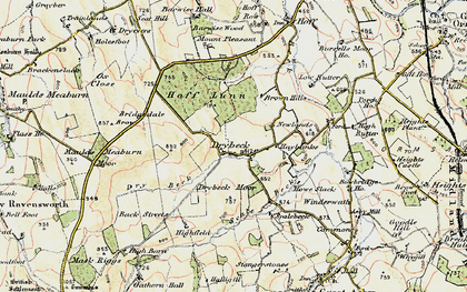 Old map of Wraes, The in 1901-1904