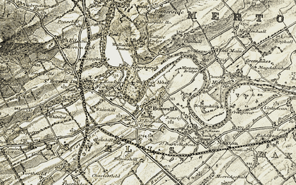 Old map of Lessudden Bank in 1901-1904