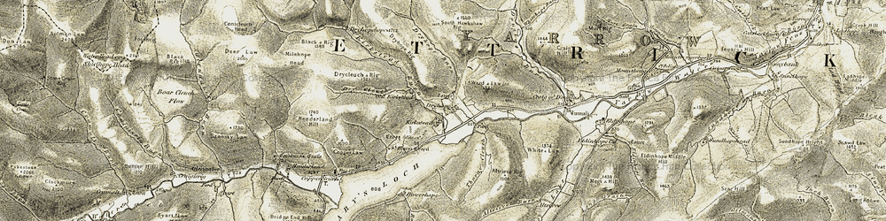 Old map of Altrieve Rig in 1904
