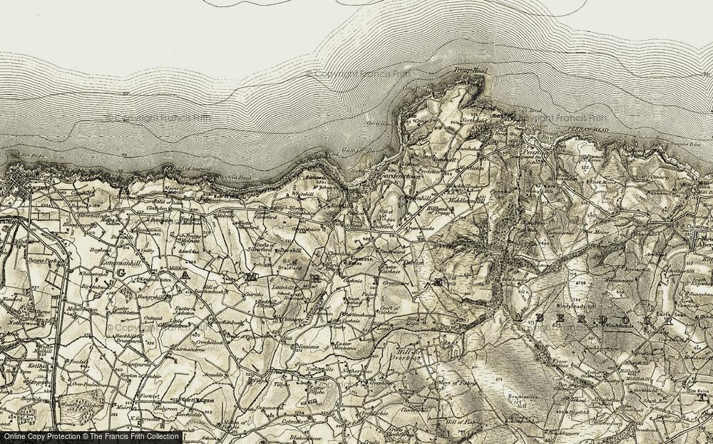 Old Map of Dubford, 1909-1910 in 1909-1910