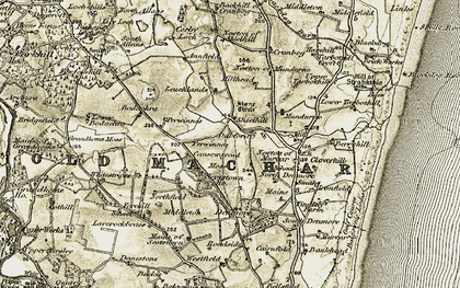 Old map of Leuchlands in 1909