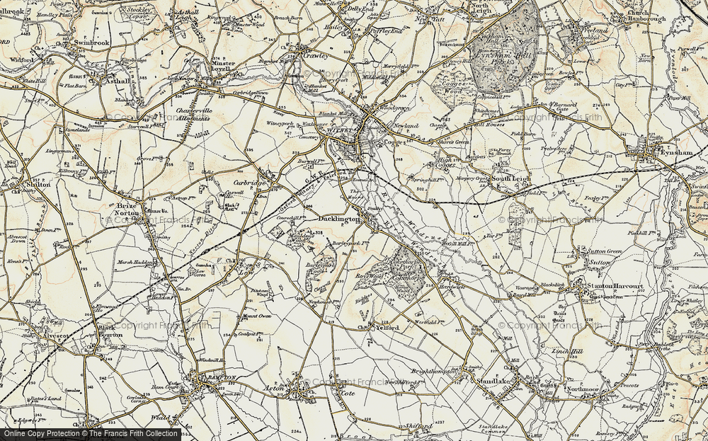Old Map of Ducklington, 1898-1899 in 1898-1899