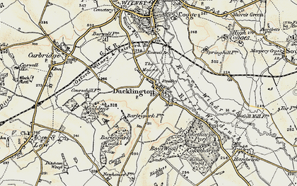 Old map of Ducklington in 1898-1899