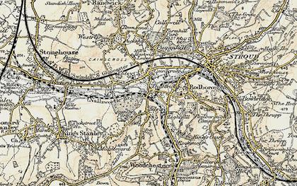 Old map of Dudbridge in 1898-1900