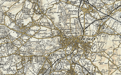 Old map of Dudley in 1902