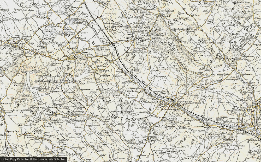 Old Map of Historic Map covering Tinker's Lodge in 1898