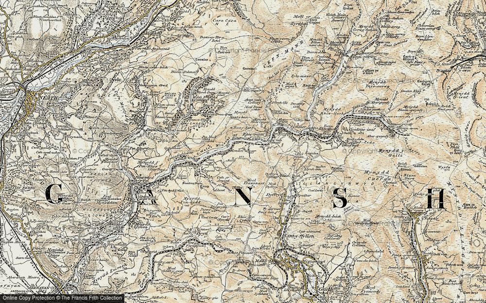 Old Map of Duffryn, 1900-1901 in 1900-1901