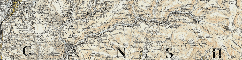 Old map of Duffryn in 1900-1901