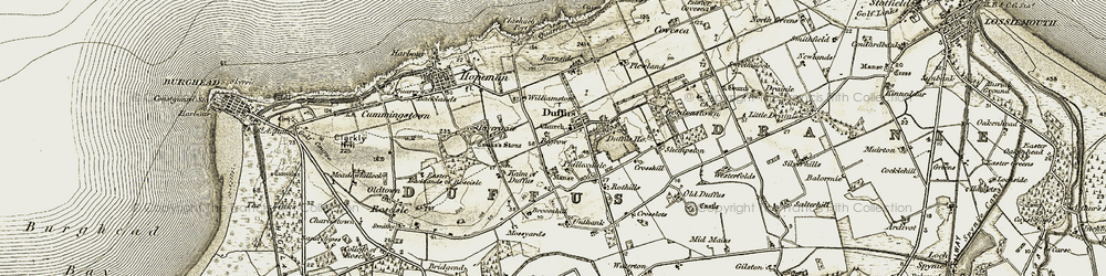 Old map of Williamston in 1910-1911