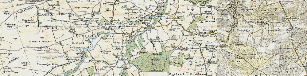 Old map of Acton Fell in 1901-1904