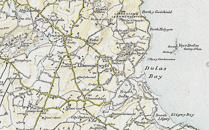 Old map of Ynys y Carcharorion in 1903-1910