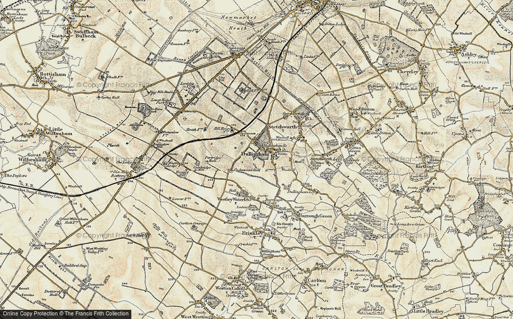 Old Map of Historic Map covering Lingay Hill in 1899-1901