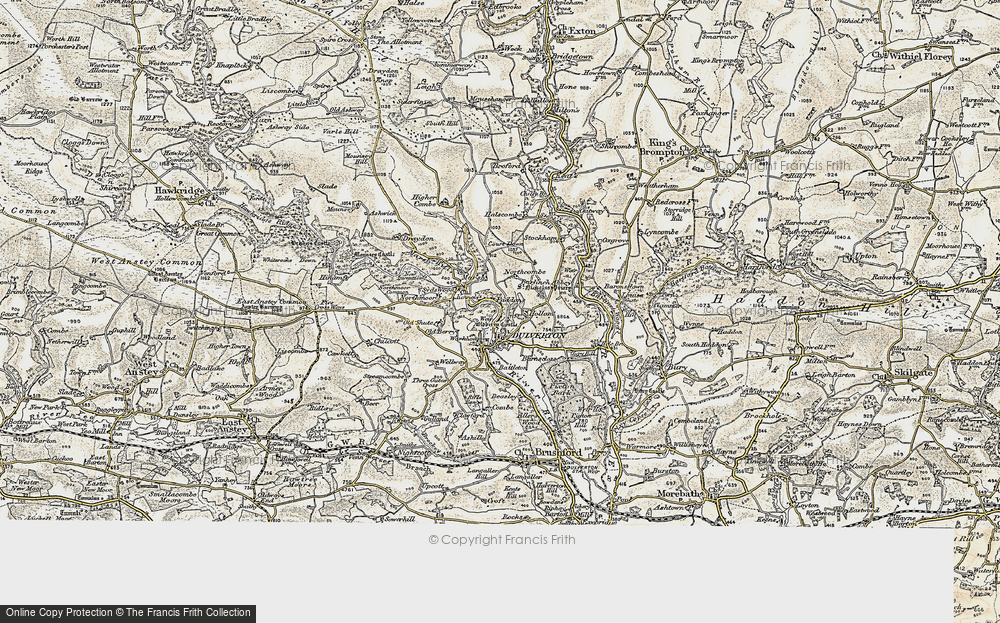Old Map of Dulverton, 1898-1900 in 1898-1900