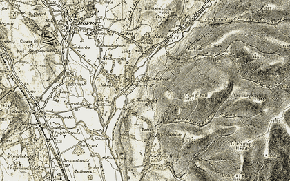 Old map of Yadburgh Hill in 1901-1904