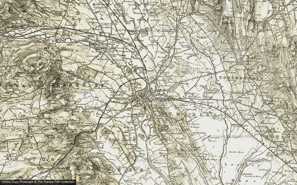 Old Map of Dumfries, 1901-1905 in 1901-1905