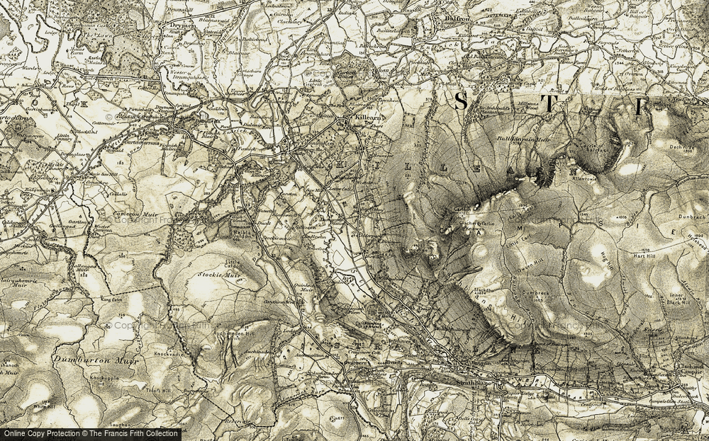 Old Map of Historic Map covering Baptiston in 1904-1907