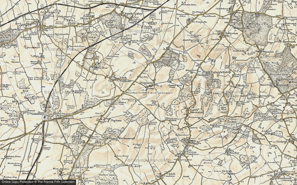Old Map of Historic Map covering Tidley Hill in 1897-1900