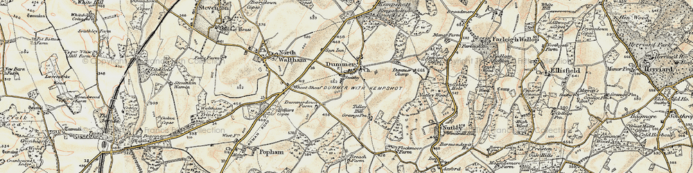 Old map of Tidley Hill in 1897-1900